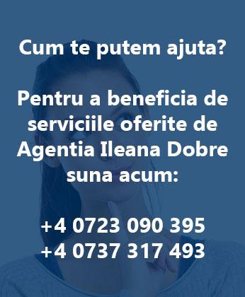 Contact servicii de ingrijire batrani, bona, menajera, pet sitter - Agentia Ileana Dobre